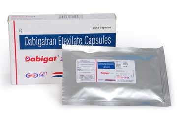 NATCO Dabigat Активные ингредиенты: дабигатран