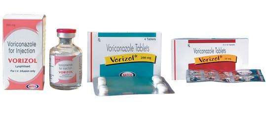Vorizol Активные ингредиенты: вориконазол