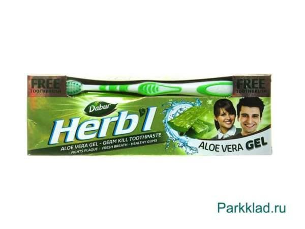 Зубная паста DABUR HERB'L Toothpaste ALOE VERA
