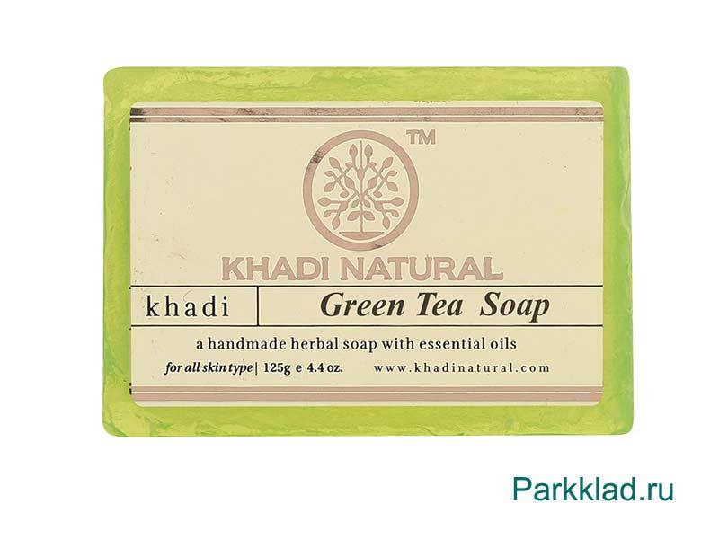 Khadi Green Tea SOAP/Кхади мыло «Зеленый Чай» 125 гр
