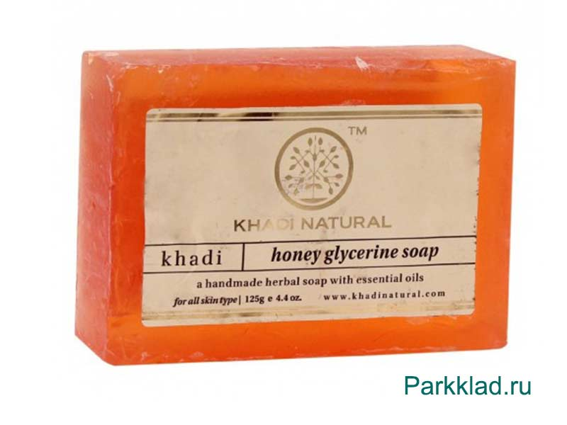 Khadi Honey glycerine SOAP/Кхади мыло «Мёд» 125 гр