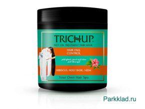 Аюрведическая маска против выпадения волос Тричуп Терапия горячим маслом (TRICHUP HOT OIL TREATMENT HAIR MASK HAIR FALL CONTROL) 500 мл