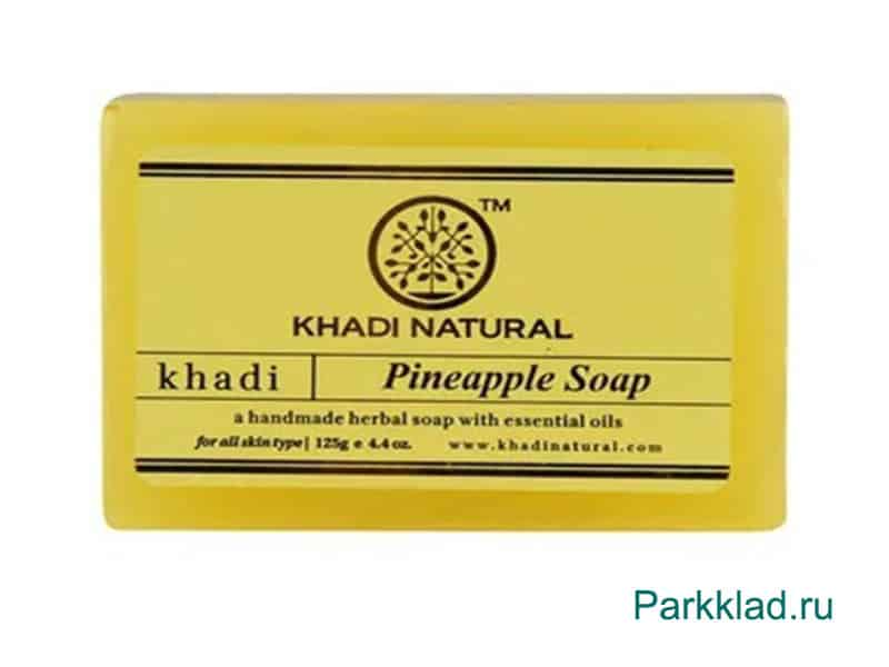 Khadi Pineapple SOAP/Кхади мыло «Ананас» 125 гр