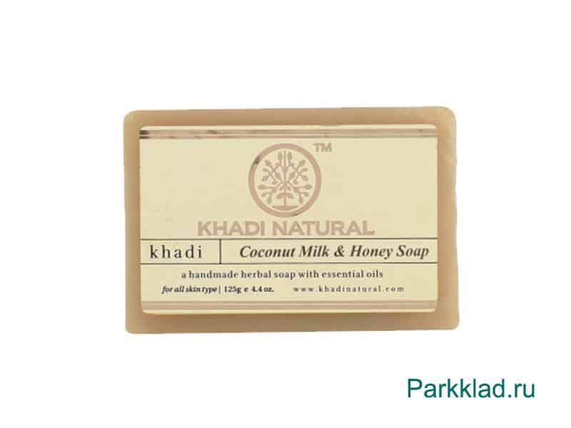 Мыло «Кокосовое молоко и мёд» Кхади 125 гр