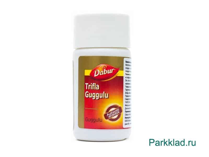 Трифала гуггул (Trifla Guggulu) Dabur 40 таблеток
