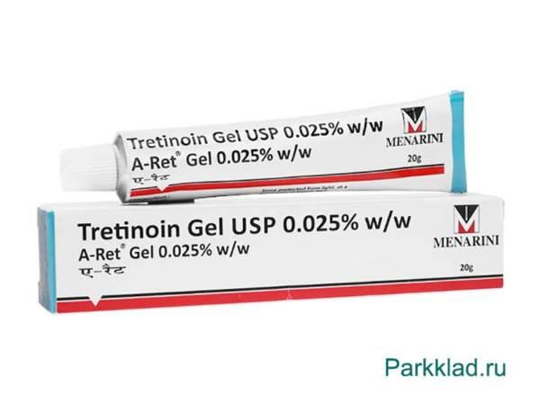 Третиноин гель Менарини (Tretinoin Gel USP) 0.025% 20 гр