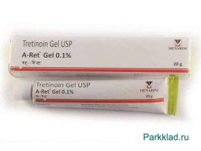 Третиноин гель Менарини (Tretinoin Gel USP) 0.1% 20 гр